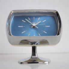 Vintage: RELOJ DESPERTADOR JAPONES CLASS CON PEDESTAL. TULIP. SPACE AGE.. Lote 58613203