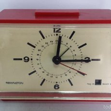 Vintage: ANTIGUO RELOJ DESPERTADOR MARCA REMINGTON MADE IN GERMANY - AÑOS 70 FUNCIONANDO. Lote 58657372
