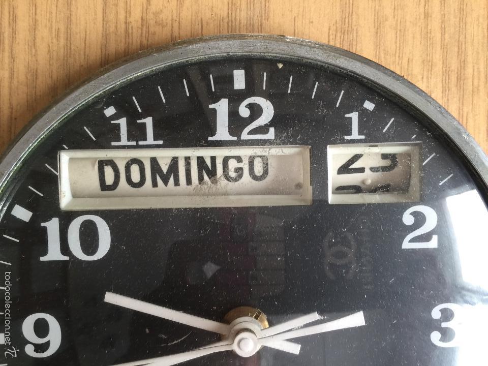 Vintage: RELOJ DE PARED CALENDARIO ELECTRICO JAZ. AÑOS 60 - Foto 2 - 59508479