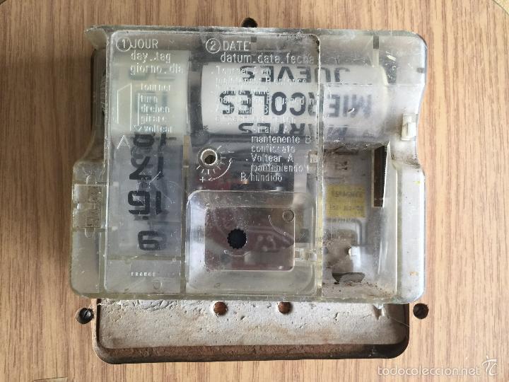 Vintage: RELOJ DE PARED CALENDARIO ELECTRICO JAZ. AÑOS 60 - Foto 4 - 59508479
