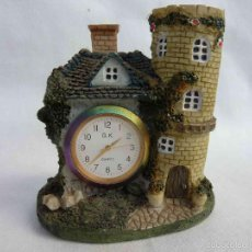 Vintage: VINTAGE RELOJ MINIATURE CLOCK CERAMIC COUNTRY ,CLOCK THE ROSE & CROWN. Lote 105650628