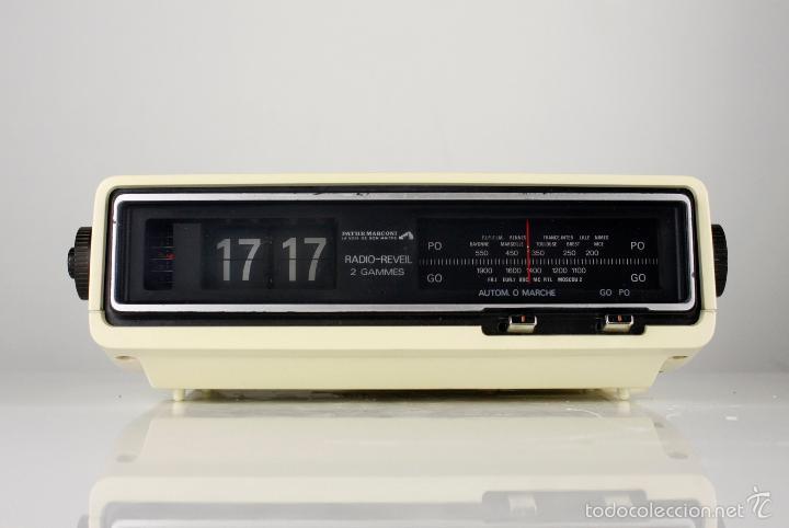 RADIO AM DESPERTADOR FLIP CLOCK RETRO SPACE AGE VINTAGE AÑOS 70 (Relojes - Relojes Vintage )