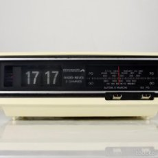 Vintage: RADIO AM DESPERTADOR FLIP CLOCK RETRO SPACE AGE VINTAGE AÑOS 70. Lote 150881057