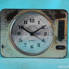 Vintage: RELOJ DESPERTADOR 'EXCLUSIV'. FABRICACIÓN ALEMANA. MADE IN GERMANY. ALEMANIA. AÑOS 70-80.. Lote 61481479