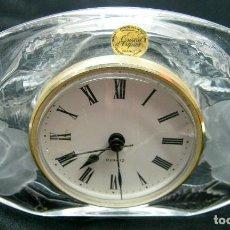 Vintage: CRISTAL FRANCES D'ARQUES CON RELOJ - ROSAS. Lote 62400468