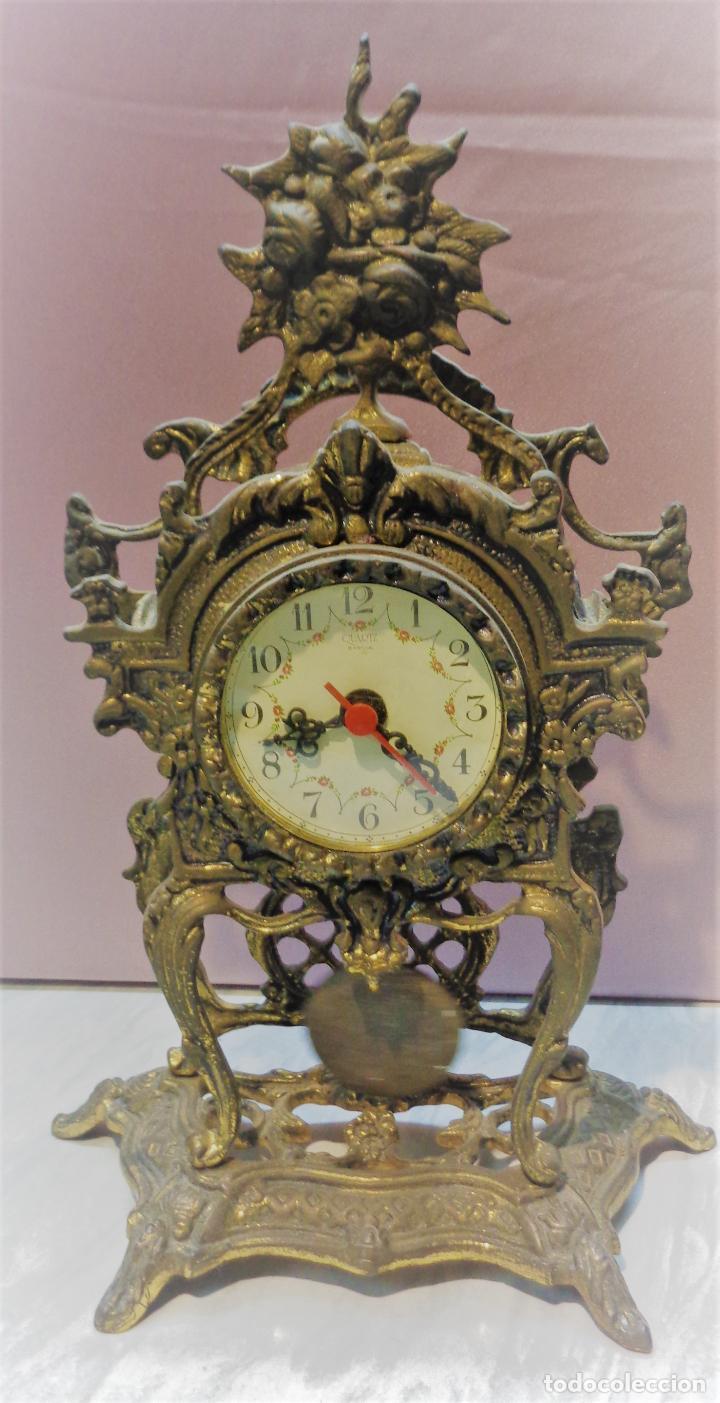 RELOJ SOBREMESA DESPERTADOR EN BRONCE - MAQUINARIA GERMANY - 34CM (Relojes - Relojes Vintage )