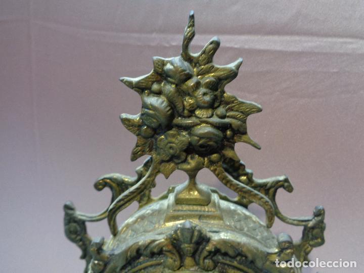 Vintage: RELOJ SOBREMESA DESPERTADOR EN BRONCE - MAQUINARIA GERMANY - 34CM - Foto 6 - 77303821