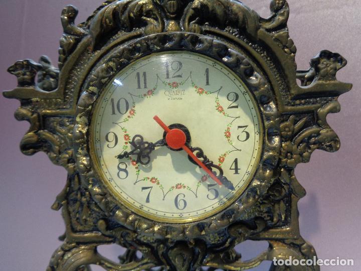 Vintage: RELOJ SOBREMESA DESPERTADOR EN BRONCE - MAQUINARIA GERMANY - 34CM - Foto 7 - 77303821