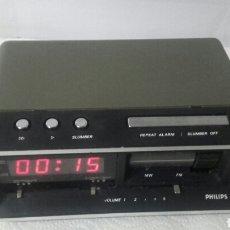 Vintage: RADIO RELOJ PHILIPS SOBREMESA PZ 1. Lote 86524191
