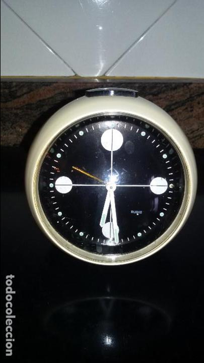 Vintage: RELOJ DESPERTADOR RUBIS. TIPO BLESSING. AÑOS 70. MADE WEST GERMANY. FUNCIONANDO. - Foto 1 - 88855604