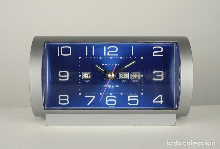 RELOJ DESPERTADOR TOKYO TOKEI SPACE AGE PLASTICO RETRO VINTAGE JAPAN AÑOS 70 (Relojes - Relojes Vintage )