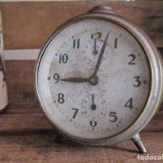 Vintage: ANTIGUO RELOJ DESPERTADOR - CARTEL. Lote 95369247