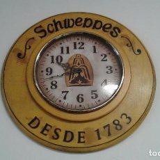 Vintage: RELOJ DE PARED SCHWEPPES. VINTAGE.. Lote 95638167