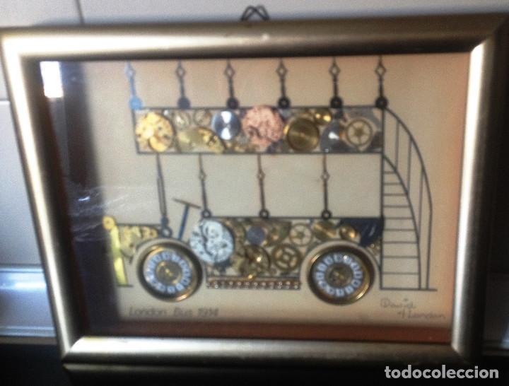 CUADRITO HECHO CON PIEZAS DE RELOJES ANTIGUOS ( LONDRES ) (Relojes - Relojes Vintage )