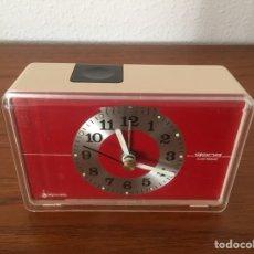 Vintage: RELOJ DESPERTADOR VINTAGE GONG ELECTRÓNICA. Lote 106615808