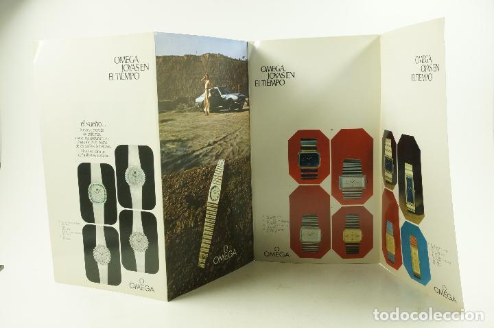 Vintage: Catálogo relojes Omega, joyas en el tiempo, 1975, Madrid. 19x33,5cm - Foto 2 - 107971567