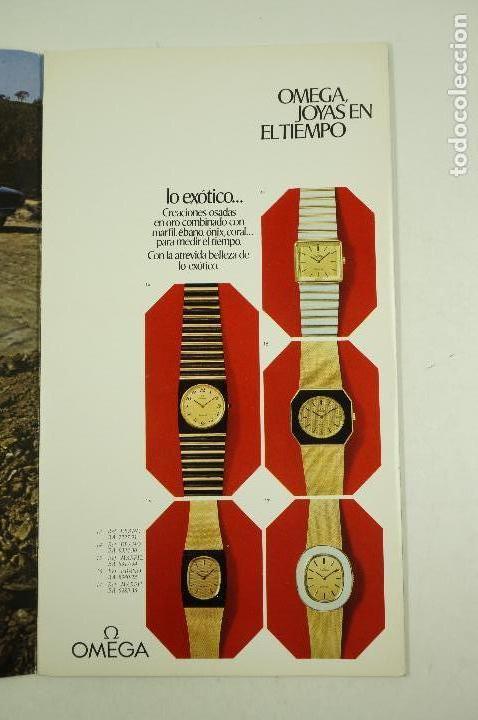 Vintage: Catálogo relojes Omega, joyas en el tiempo, 1975, Madrid. 19x33,5cm - Foto 3 - 107971567