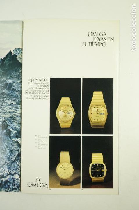 Vintage: Catálogo relojes Omega, joyas en el tiempo, 1975, Madrid. 19x33,5cm - Foto 4 - 107971567