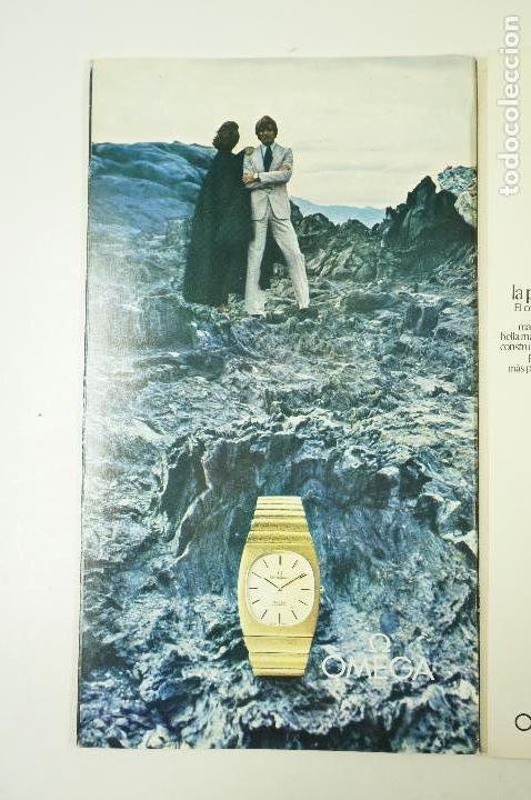 Vintage: Catálogo relojes Omega, joyas en el tiempo, 1975, Madrid. 19x33,5cm - Foto 5 - 107971567