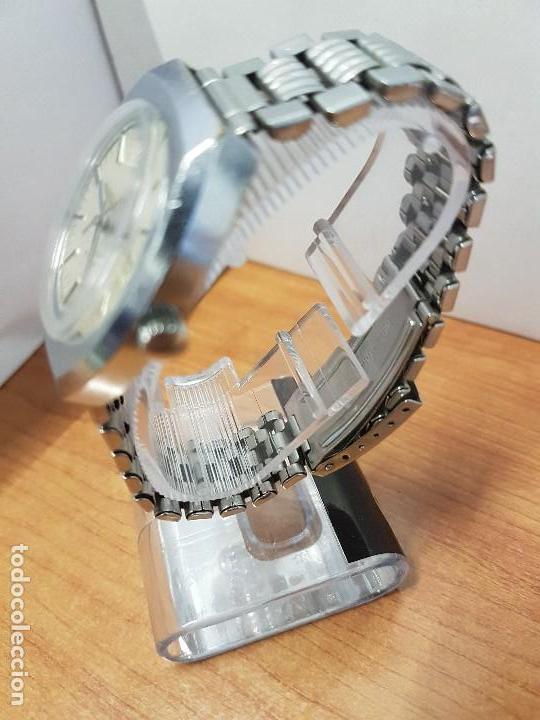 Vintage: Reloj caballero (Vintage) Nivada automático con doble calendario a las tres, correa acero antigua - Foto 3 - 113677507