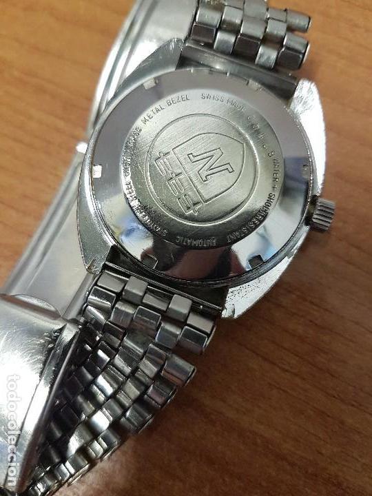 Vintage: Reloj caballero (Vintage) Nivada automático con doble calendario a las tres, correa acero antigua - Foto 6 - 113677507