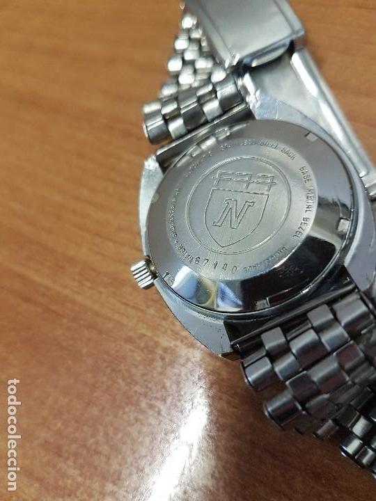 Vintage: Reloj caballero (Vintage) Nivada automático con doble calendario a las tres, correa acero antigua - Foto 9 - 113677507