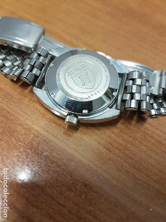 Vintage: Reloj caballero (Vintage) Nivada automático con doble calendario a las tres, correa acero antigua - Foto 11 - 113677507