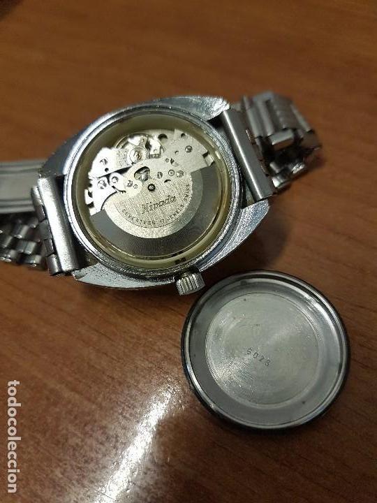 Vintage: Reloj caballero (Vintage) Nivada automático con doble calendario a las tres, correa acero antigua - Foto 13 - 113677507