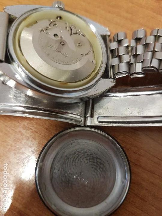 Vintage: Reloj caballero (Vintage) Nivada automático con doble calendario a las tres, correa acero antigua - Foto 15 - 113677507