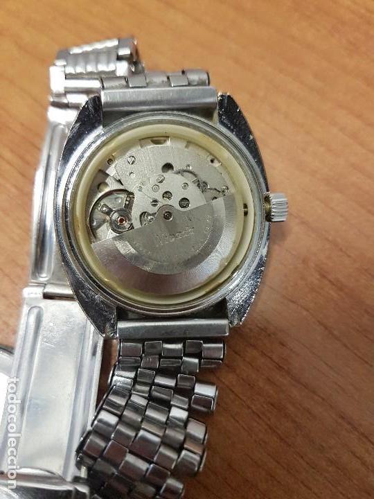 Vintage: Reloj caballero (Vintage) Nivada automático con doble calendario a las tres, correa acero antigua - Foto 16 - 113677507