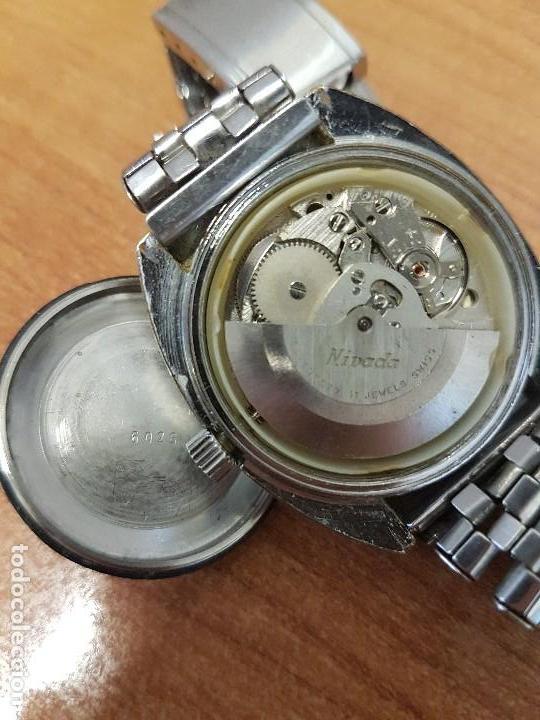 Vintage: Reloj caballero (Vintage) Nivada automático con doble calendario a las tres, correa acero antigua - Foto 17 - 113677507