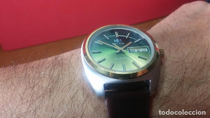 Vintage: Reloj Herma de caballero, seminuevo, de cuarzo, raro modelo con 7 rubís, vintage - Foto 5 - 113916939