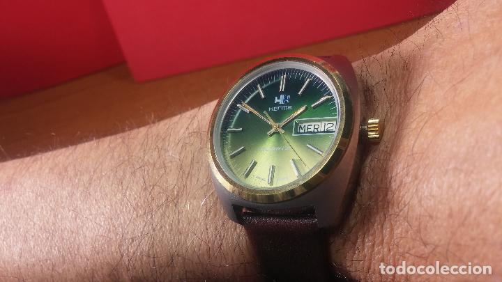 Vintage: Reloj Herma de caballero, seminuevo, de cuarzo, raro modelo con 7 rubís, vintage - Foto 10 - 113916939