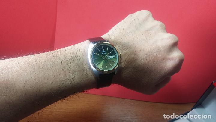 Vintage: Reloj Herma de caballero, seminuevo, de cuarzo, raro modelo con 7 rubís, vintage - Foto 14 - 113916939