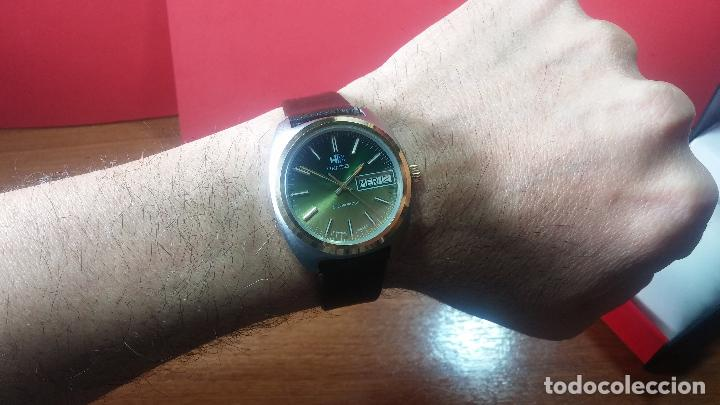 Vintage: Reloj Herma de caballero, seminuevo, de cuarzo, raro modelo con 7 rubís, vintage - Foto 15 - 113916939
