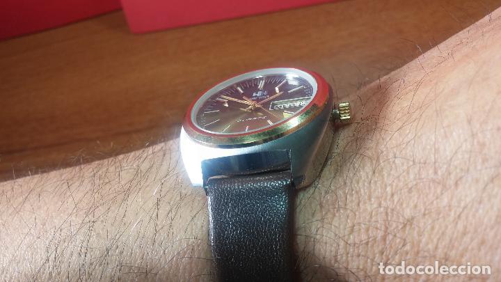 Vintage: Reloj Herma de caballero, seminuevo, de cuarzo, raro modelo con 7 rubís, vintage - Foto 22 - 113916939