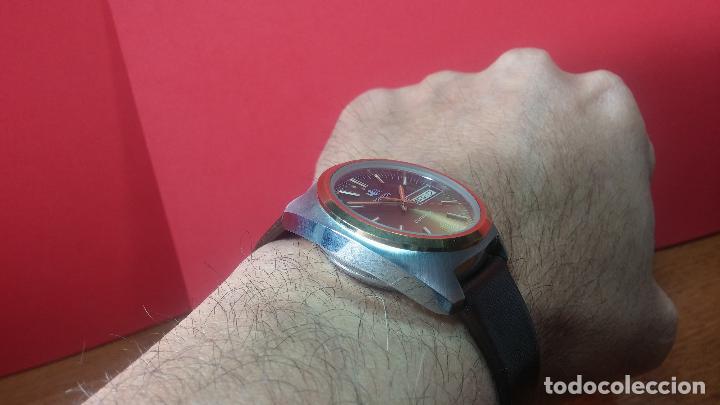Vintage: Reloj Herma de caballero, seminuevo, de cuarzo, raro modelo con 7 rubís, vintage - Foto 25 - 113916939