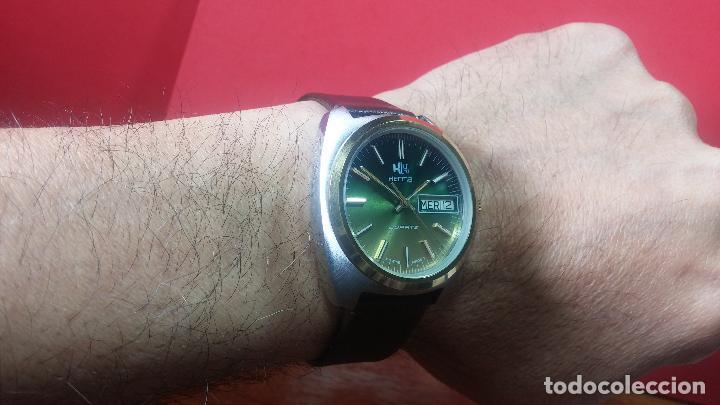 Vintage: Reloj Herma de caballero, seminuevo, de cuarzo, raro modelo con 7 rubís, vintage - Foto 26 - 113916939