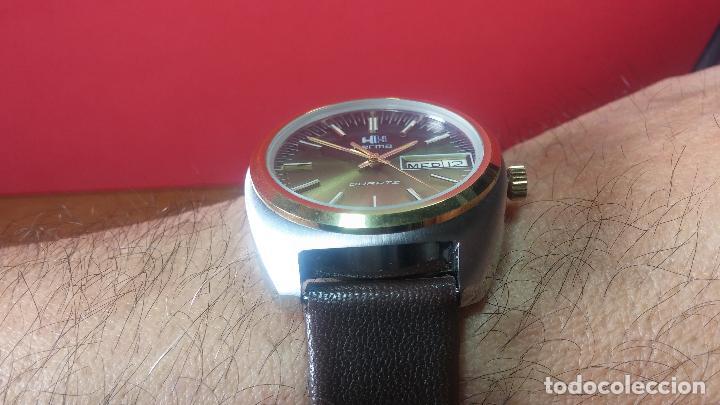 Vintage: Reloj Herma de caballero, seminuevo, de cuarzo, raro modelo con 7 rubís, vintage - Foto 28 - 113916939
