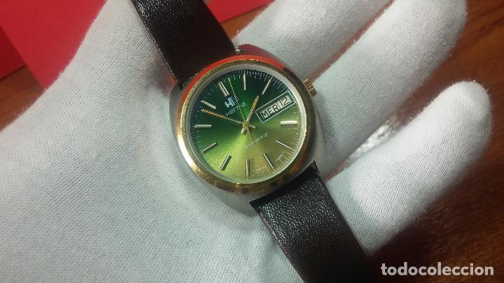 Vintage: Reloj Herma de caballero, seminuevo, de cuarzo, raro modelo con 7 rubís, vintage - Foto 35 - 113916939