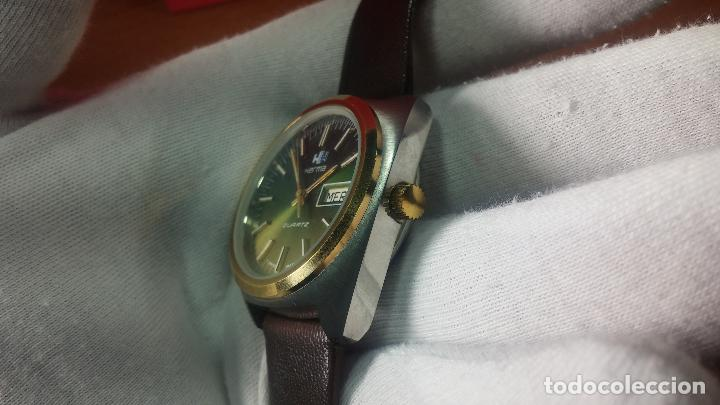 Vintage: Reloj Herma de caballero, seminuevo, de cuarzo, raro modelo con 7 rubís, vintage - Foto 55 - 113916939