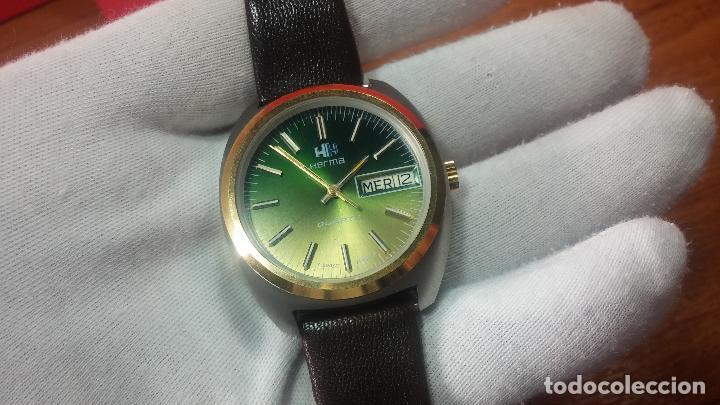 Vintage: Reloj Herma de caballero, seminuevo, de cuarzo, raro modelo con 7 rubís, vintage - Foto 56 - 113916939