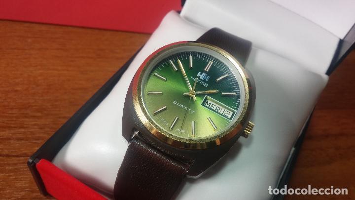 Vintage: Reloj Herma de caballero, seminuevo, de cuarzo, raro modelo con 7 rubís, vintage - Foto 60 - 113916939