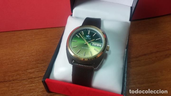 Vintage: Reloj Herma de caballero, seminuevo, de cuarzo, raro modelo con 7 rubís, vintage - Foto 62 - 113916939
