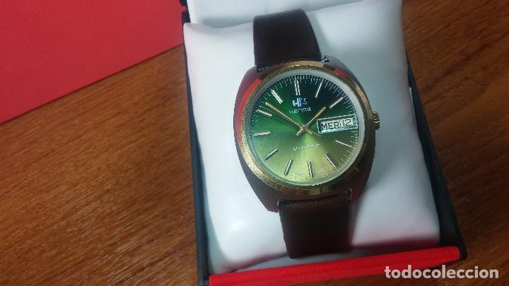 Vintage: Reloj Herma de caballero, seminuevo, de cuarzo, raro modelo con 7 rubís, vintage - Foto 65 - 113916939