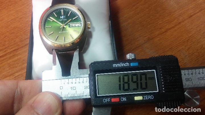 Vintage: Reloj Herma de caballero, seminuevo, de cuarzo, raro modelo con 7 rubís, vintage - Foto 74 - 113916939
