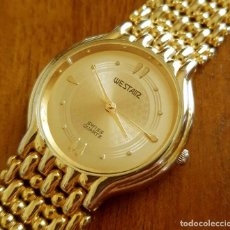 Vintage: RELOJ WESTAIR 18K GOLD ELECTRO PLATED, VINTAGE, NOS (NEW OLD STOCK). Lote 116358175