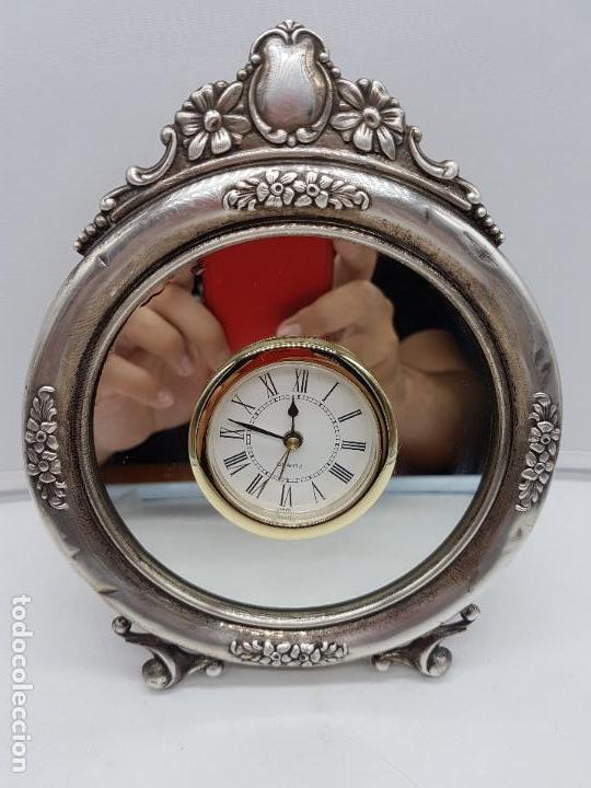 ANTIGUO RELOJ DE ESTILO IMPERIAL EN PLATA DE LEY CONTRASTADA DE SOBREMESA. (Relojes - Relojes Vintage )