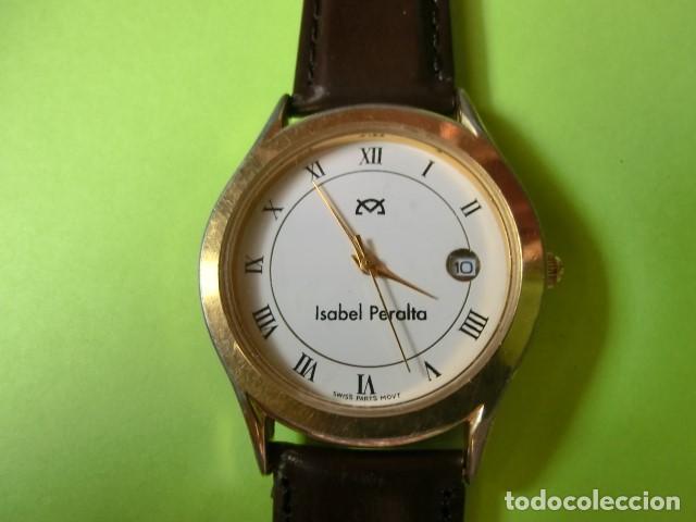 RELOJ NOMBRE: ISABEL PERALTA. SILVANA. SWISS PARTS QUARZ, 5 MICRON GOLD PLATED. FUNCIONANDO. (Relojes - Relojes Vintage )