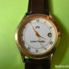 Vintage: RELOJ NOMBRE: ISABEL PERALTA. SILVANA. SWISS PARTS QUARZ, 5 MICRON GOLD PLATED. FUNCIONANDO.. Lote 119643407